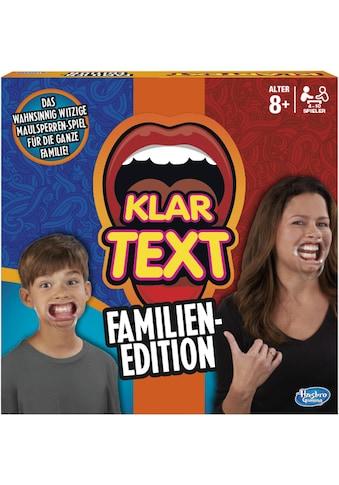 Hasbro Spiel »Klartext - Familien-Edition«, Made in Europe kaufen