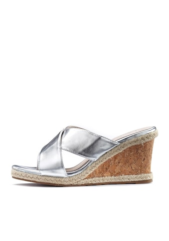 LASCANA High-Heel-Pantolette, mit Keilabsatz in Metallic-Optik kaufen
