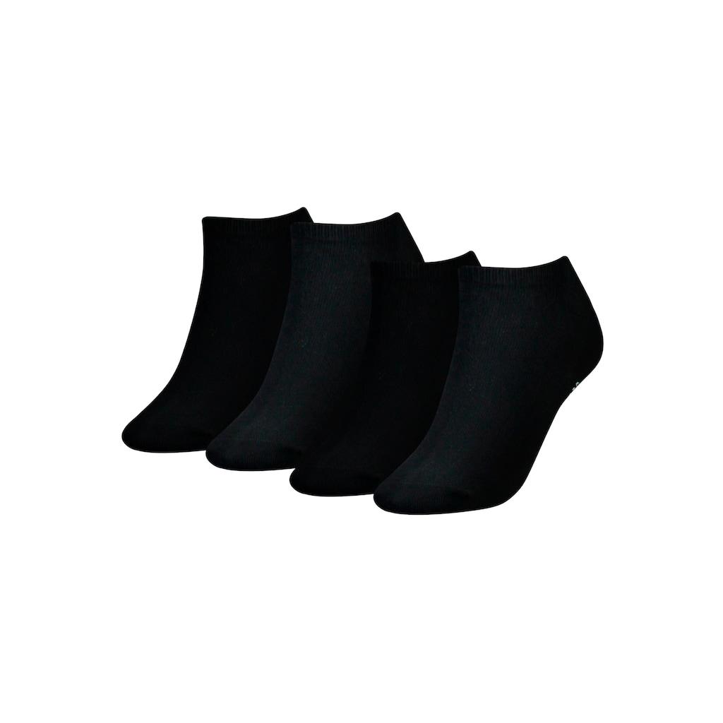 Tommy Hilfiger Sneakersocken, (4 Paar), mit schmalem Rippbündchen