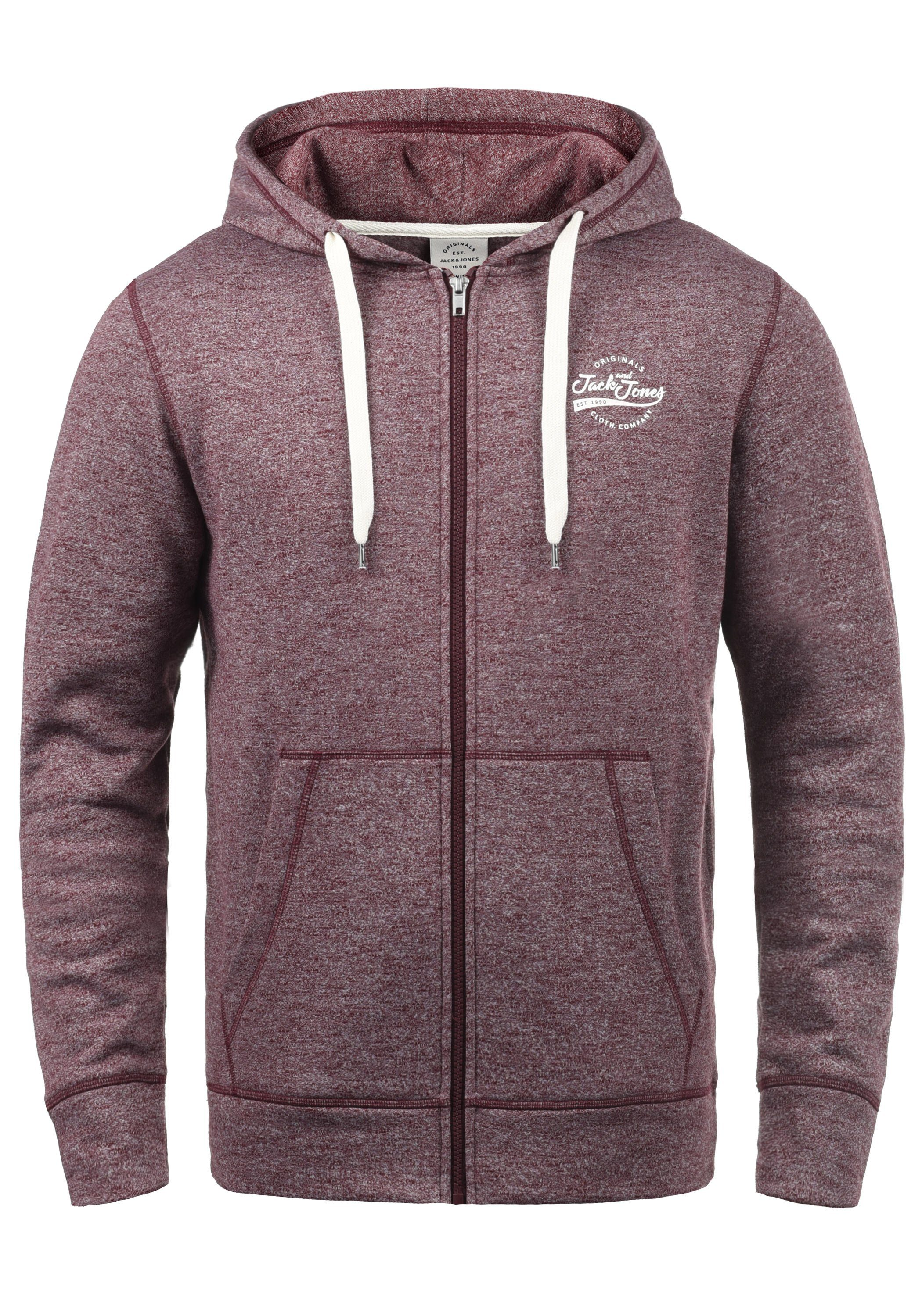 Jack & Jones Kapuzensweatjacke »Lucas« | Bekleidung > Sweatshirts & -jacken > Sweatjacken | Braun | Fleece | JACK & JONES