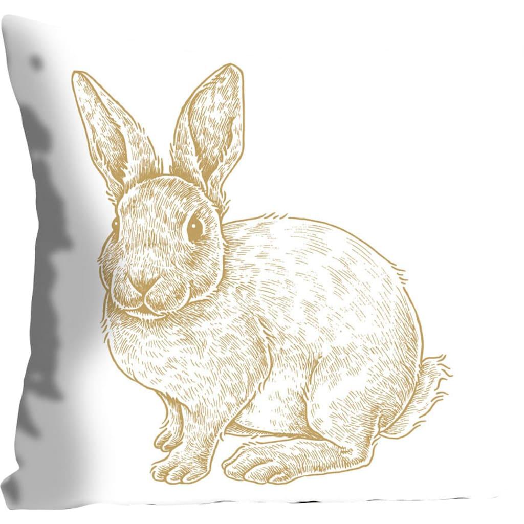 queence Kissenhülle »Thorge«, (1 St.), mit einem flauschigen Hasen