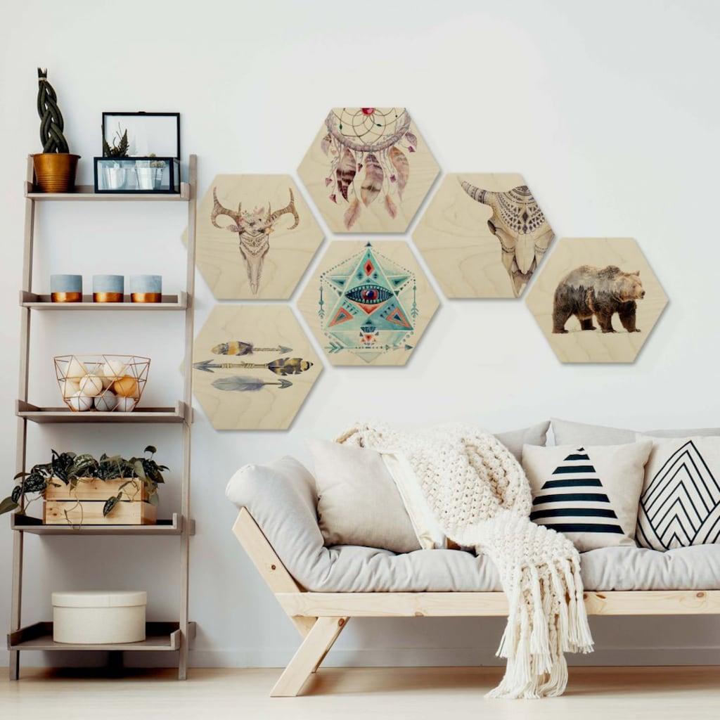 Wall-Art Mehrteilige Bilder »Bohemian Kultur Boho Set XL«, (Set, 6 St.)