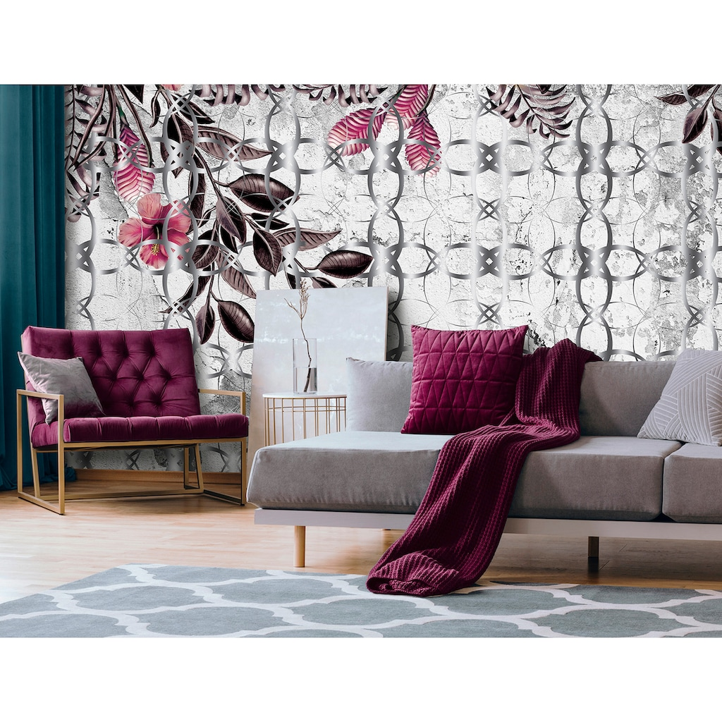 Consalnet Vliestapete »Rosa Muster mit Blumen«, floral