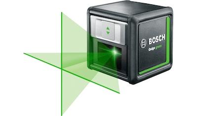 BOSCH Kreuzlinienlaser »Quigo green«, Max. Reichweite: 12m, inkl. 2x 1,5 V Batterien... kaufen