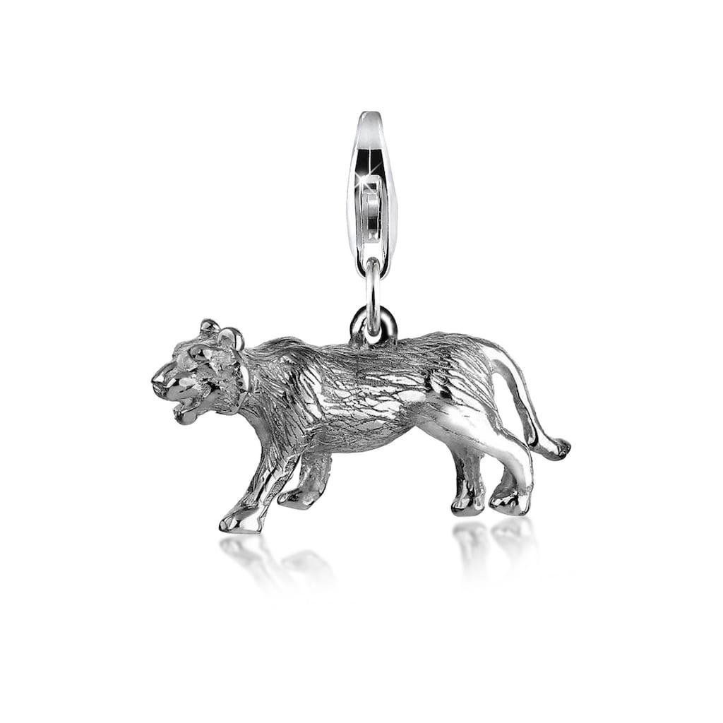 Nenalina Charm-Einhänger »Anhänger Tiger Tier Safari 925 Silber«