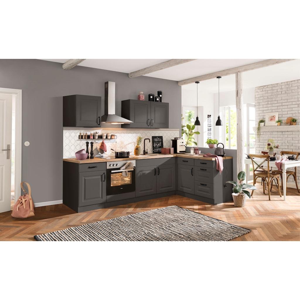 wiho Küchen Küchenzeile »Erla«, mit E-Geräten, Breite 210 cm
