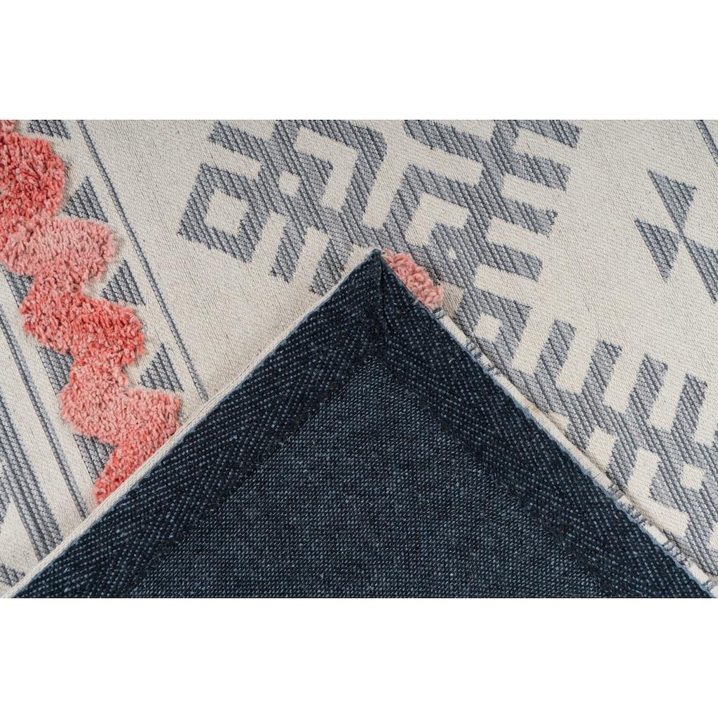 calo-deluxe Teppich »Kibo 512«, rechteckig, 10 mm Höhe, Hoch-Tief-Struktur, Wohnzimmer