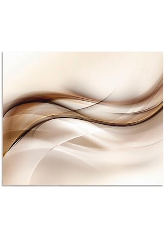 """Artland Küchenrückwand """"Braune abstrakte Welle"""", (1 - tlg.) kaufen"""