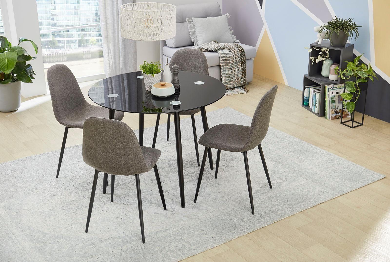 Jockenhöfer Gruppe Esstisch, ø 100cm schwarz Esstisch Esstische rund oval Tische