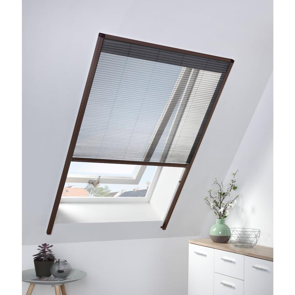 hecht international Insektenschutz-Dachfenster-Rollo, braun/anthrazit, BxH: 110x160 cm