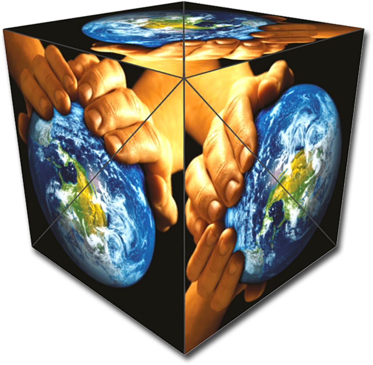 GeoBender Würfelpuzzle Cube World bunt Kinder Puzzle Gesellschaftsspiele