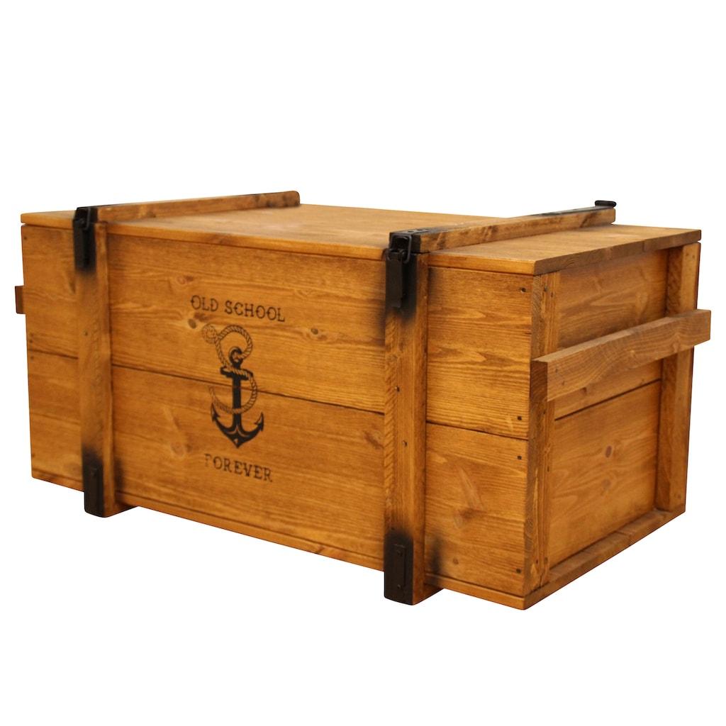 Uncle Joe´s Truhentisch, im Seefrachtkisten-Design