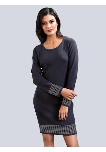 Alba Moda Strickkleid aus trageangenehmen Jacquardstrick kaufen