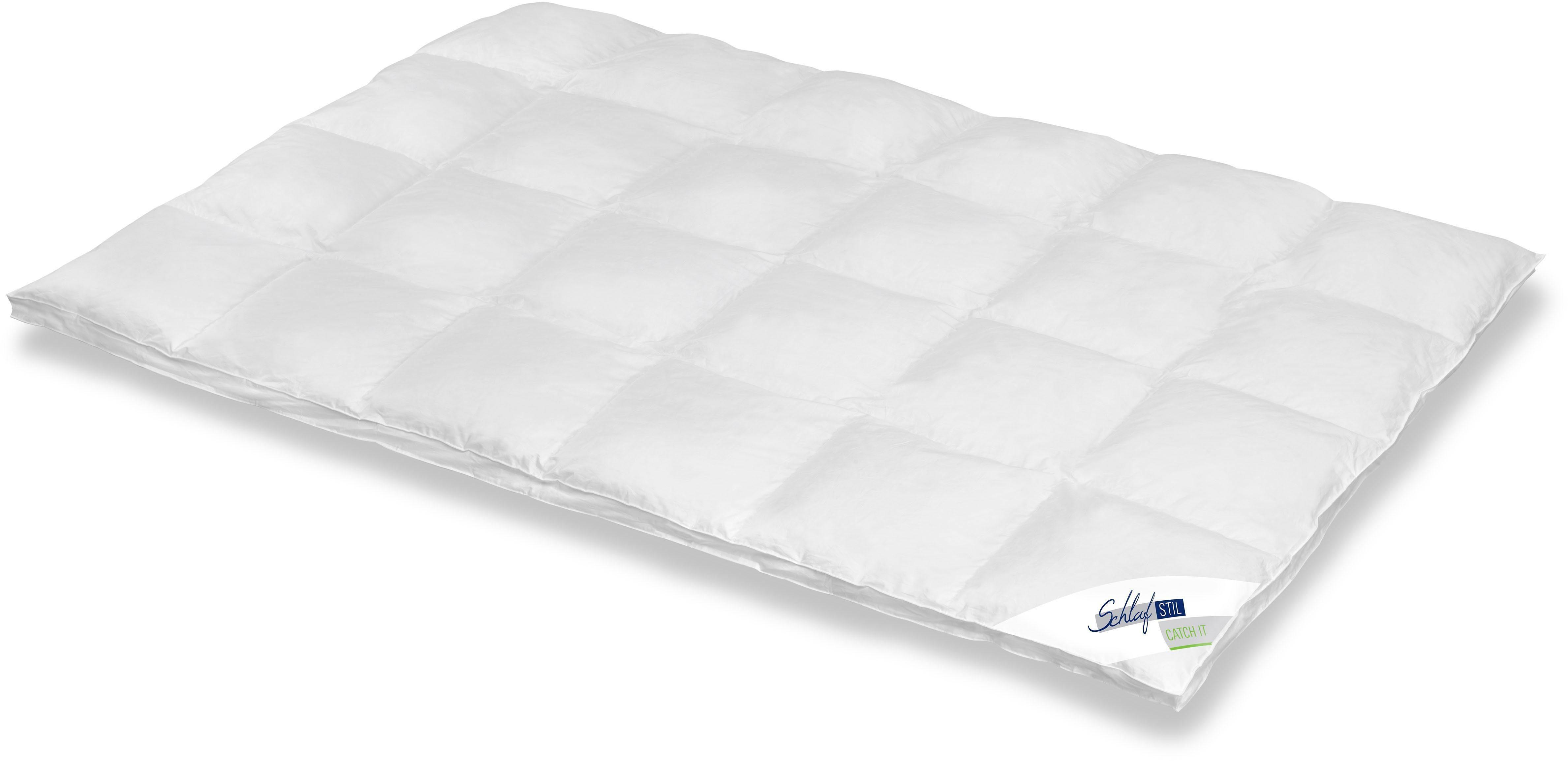 Daunenbettdecke Catch It Schlafstil extrawarm Füllung: 90% Daunen 10% Federn Bezug: 100% Baumwolle