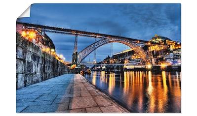 Artland Wandbild »Douro und Eiffelbruecke am Abend« kaufen