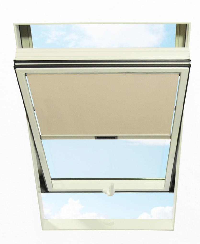 RORO Türen & Fenster Dachfensterrollo, Lichtschutz beige Dachfensterrollos Rollos Jalousien Dachfensterrollo