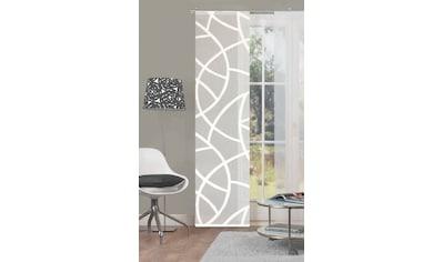 HOME WOHNIDEEN Schiebegardine »CASSÉ«, Leinen-Voile, mit transparentem Scherli kaufen