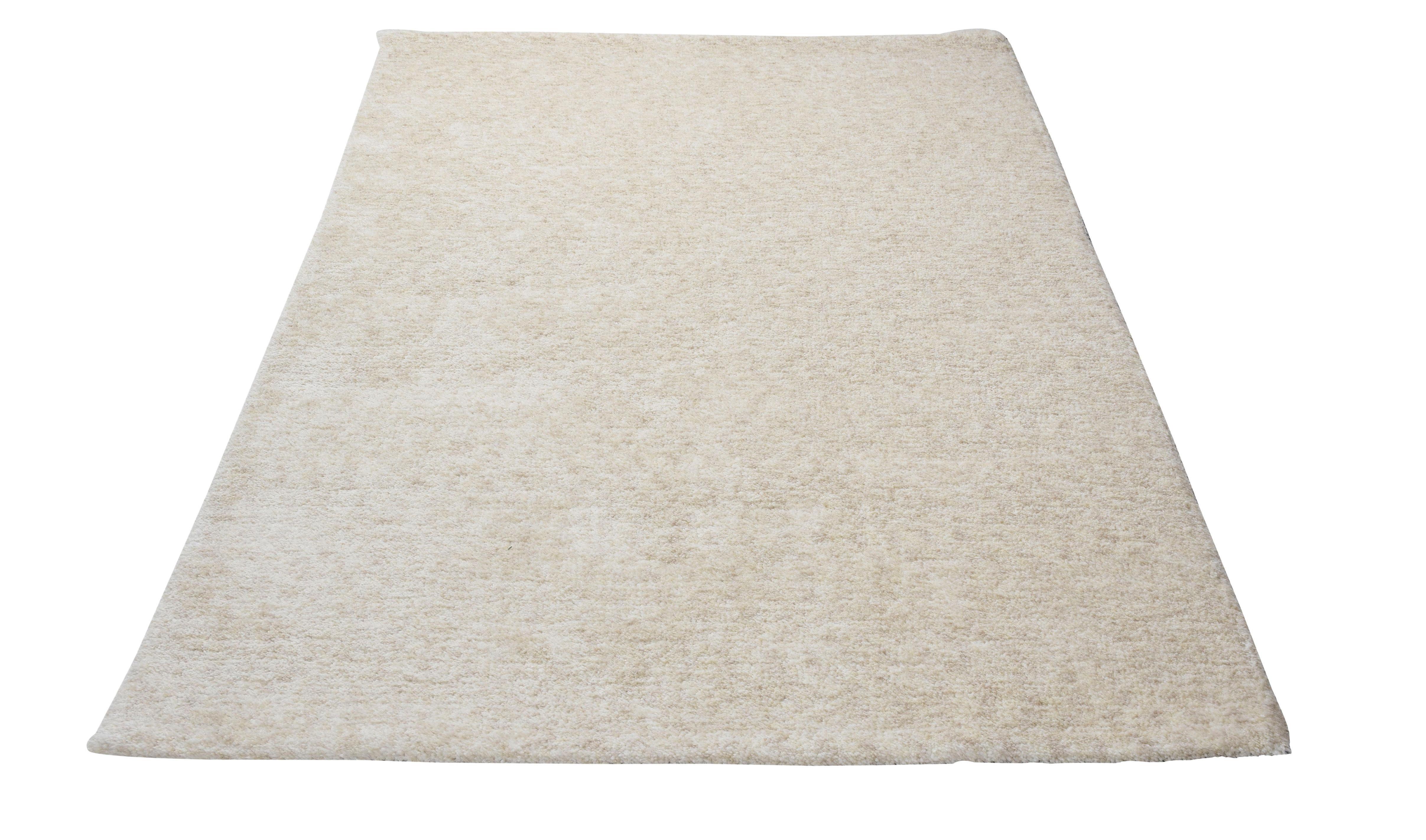 Teppich Roberto Uni Gino Falcone rechteckig Höhe 20 mm handgetuftet