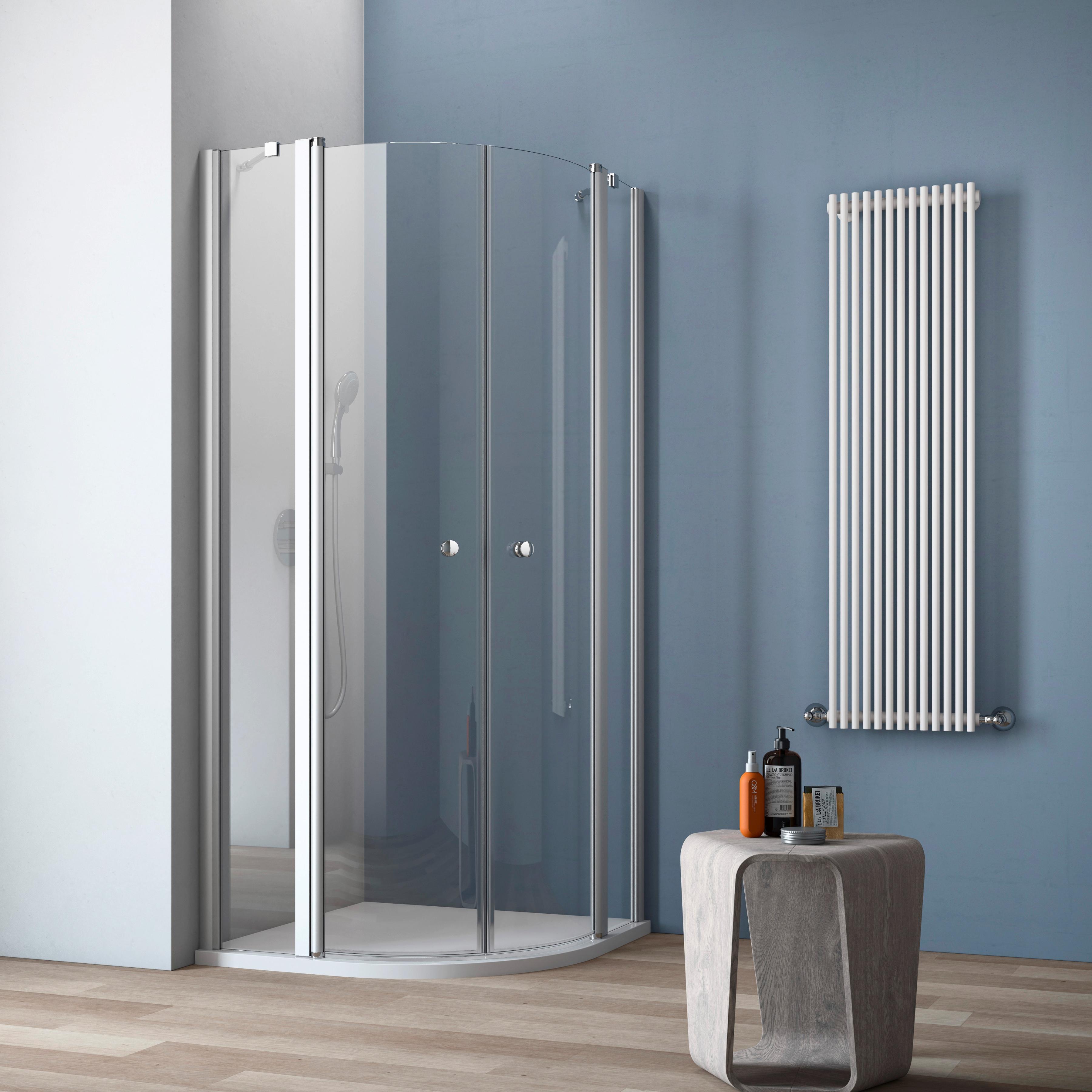 maw Runddusche A-R200, ebenerdiger Einbau möglich silberfarben Duschkabinen Duschen Bad Sanitär Eckdusche