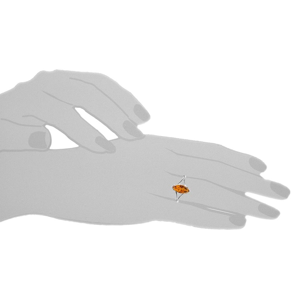 OSTSEE-SCHMUCK Fingerring »- Amalia - Silber 925/000 - Bernstein«, (1 tlg.)