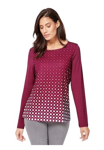 Inspirationen Shirt mit dekorativem Pünktchenmuster vorne kaufen