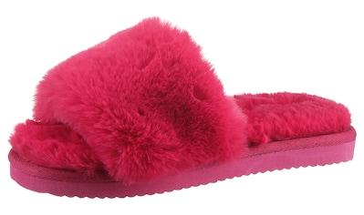 Flip Flop Pantoffel »SLIDE*FUR«, mit breiter Bandage kaufen