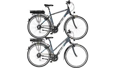 FISCHER Fahrräder E - Bike »ETH/ETD 1401«, 24 Gang Shimano Acera Schaltwerk, Kettenschaltung, Heckmotor 250 W (Spar - Set, 2 - tlg.) kaufen