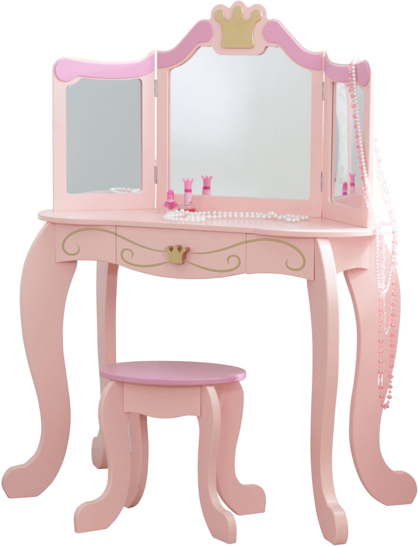 KidKraft Schminktisch, mit Stuhl rosa Kinder Ab 3-5 Jahren Altersempfehlung Tisch