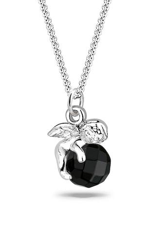 Elli Collierkettchen »Engel Onyx Swarovski® 925 Sterling Silber« kaufen