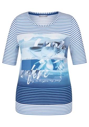 Rabe T - Shirt mit Ringeln und Front - Print kaufen