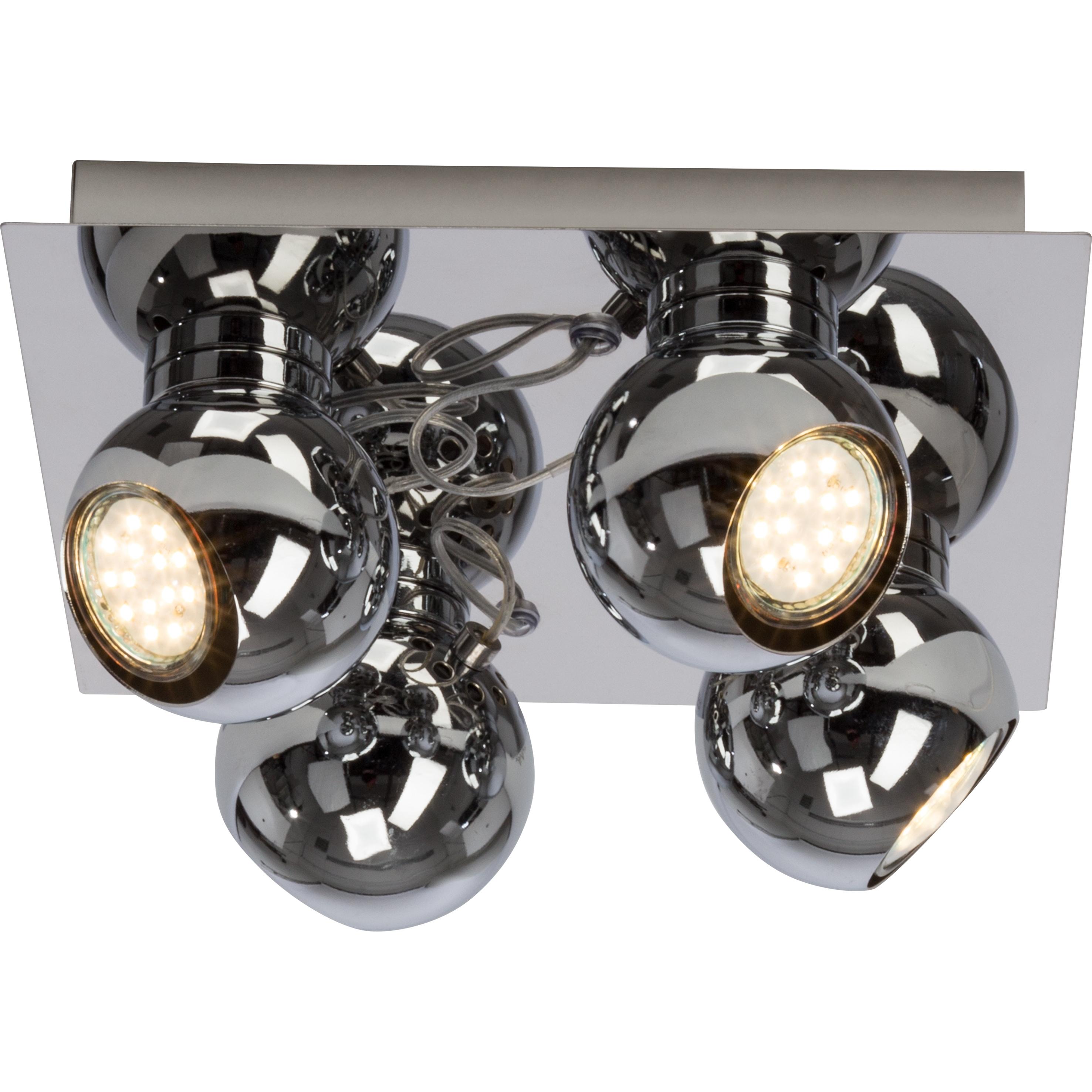 Brilliant Leuchten Magnito LED Spotplatte 4flg chrom
