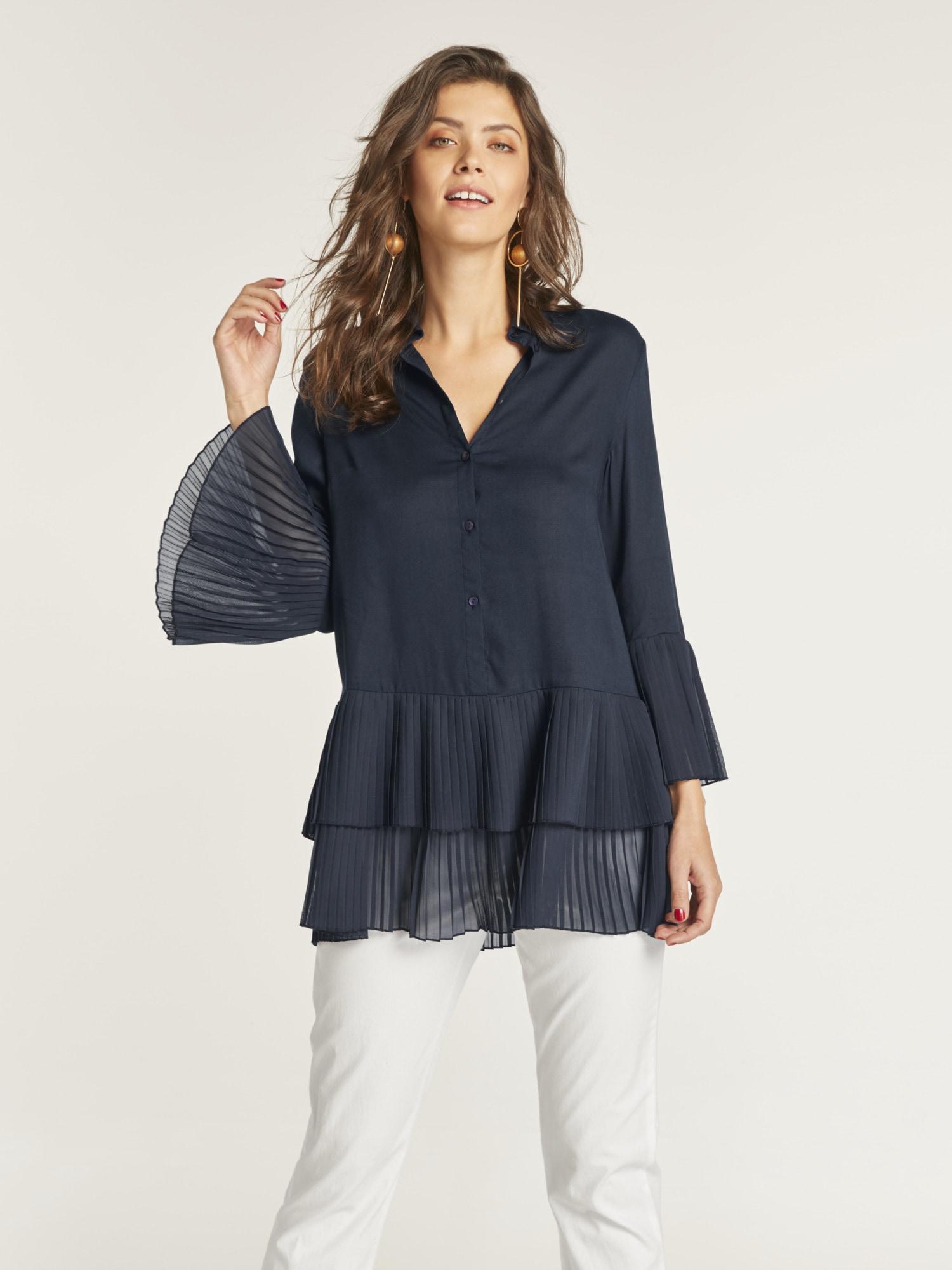 heine TIMELESS Bluse mit Plisseefalten