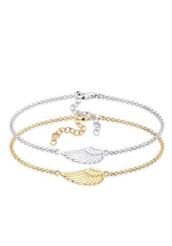 Elli Armband »Erbskette Friends Flügel Bi-Color 925er Silber« kaufen