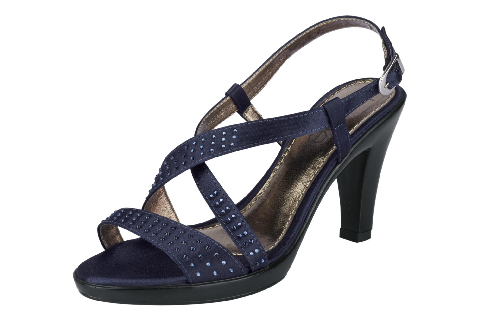 Sandalette mit Strasssteinchen Heine blau 36,37,38,39,40,41