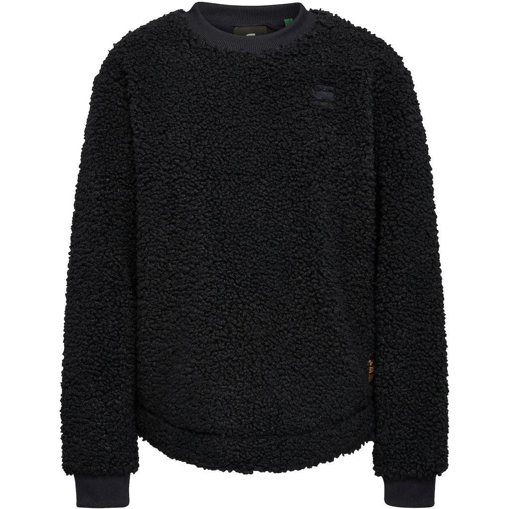 G-Star RAW Sweatshirt »Carley«, in kuscheliger Optik