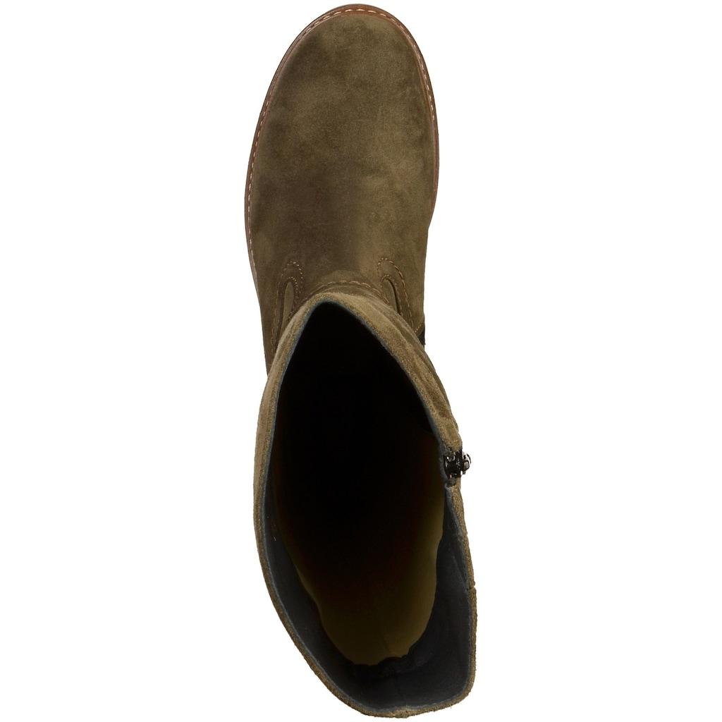 WOLKY Stiefel »Veloursleder«