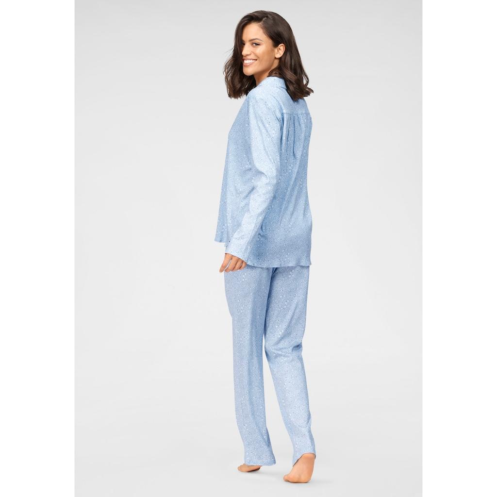 Schiesser Pyjama, in klassischer Form mit Alloverdruck
