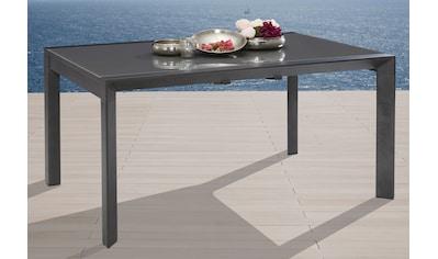 MERXX Gartentisch »San Remo«, Aluminium, ausziehbar, 160 - 220x104 cm, silber kaufen