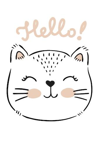 Lüttenhütt Leinwandbild »Hello« kaufen