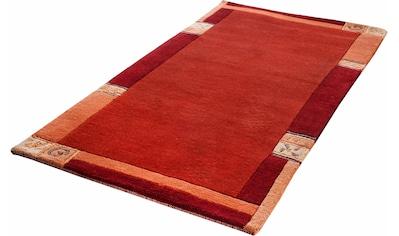 LUXOR living Wollteppich »India«, rechteckig, 20 mm Höhe, reine Wolle, handgeknüpft, mit Bordüre, Wohnzimmer kaufen