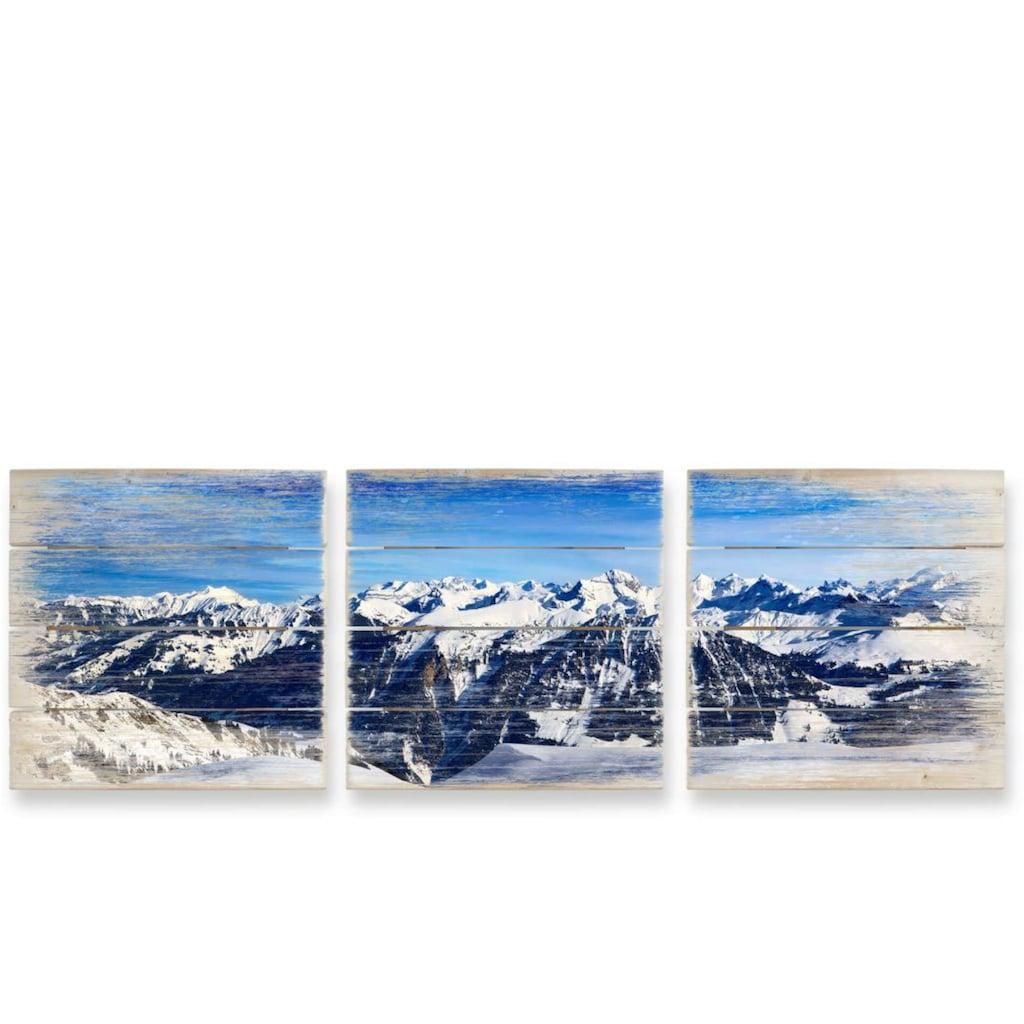 Wall-Art Mehrteilige Bilder »Alpenpanorama Natur Collage«, (Set, 3 St.)
