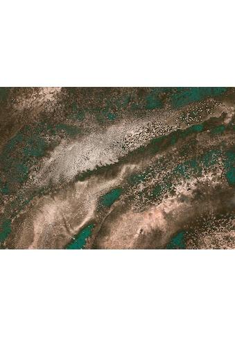 Komar Fototapete »Molten Copper«, floral-schimmernd-Bronze-Optik kaufen