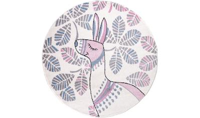 Festival Kinderteppich »Candy 150«, rund, 11 mm Höhe, Motiv Lama kaufen