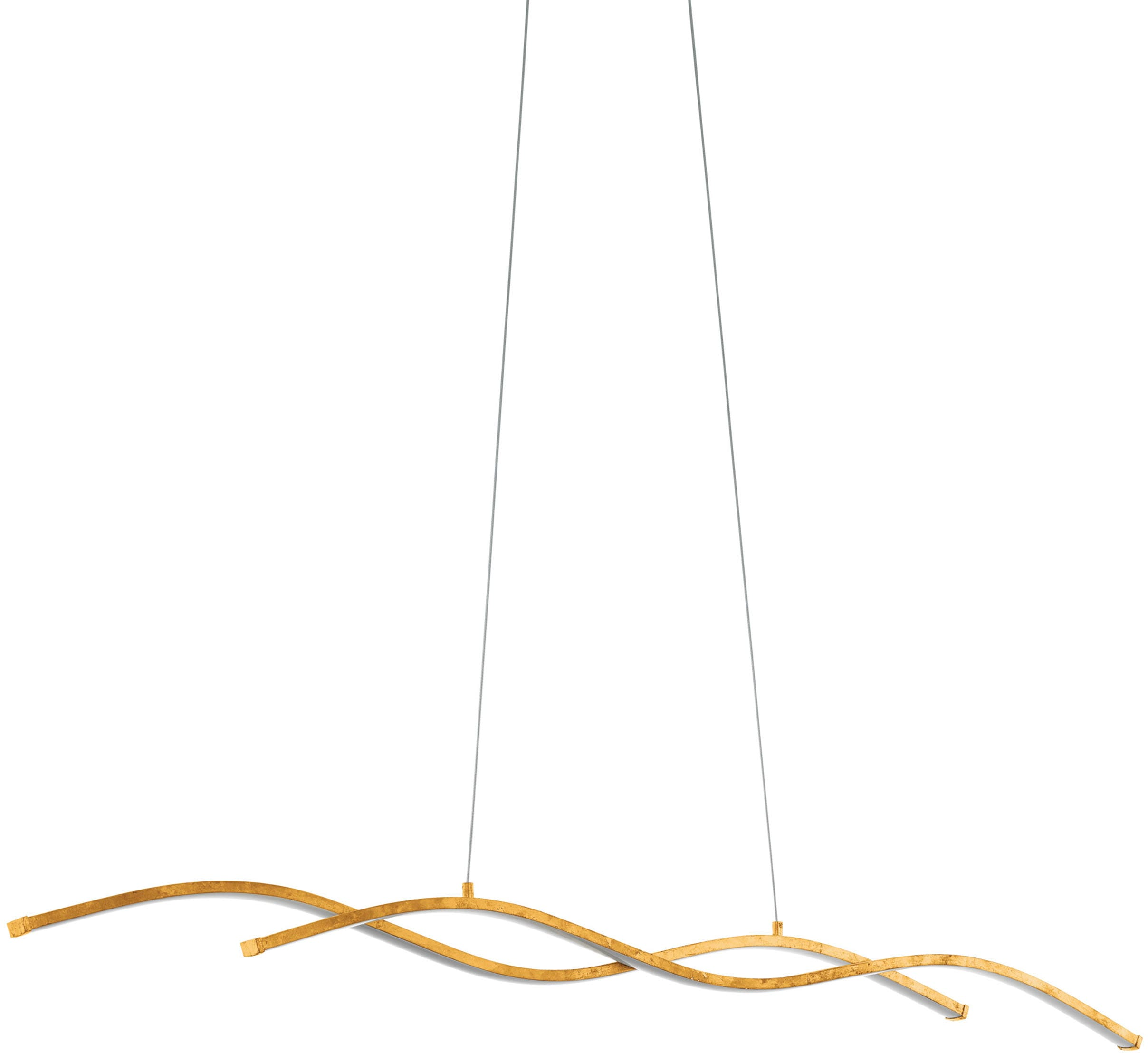 EGLO Pendelleuchte MIRAFLORES, LED-Board, Warmweiß, Hängeleuchte, Hängelampe
