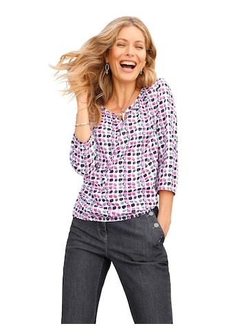 Inspirationen Bluse in modisch verwaschenem Tupfendessin kaufen