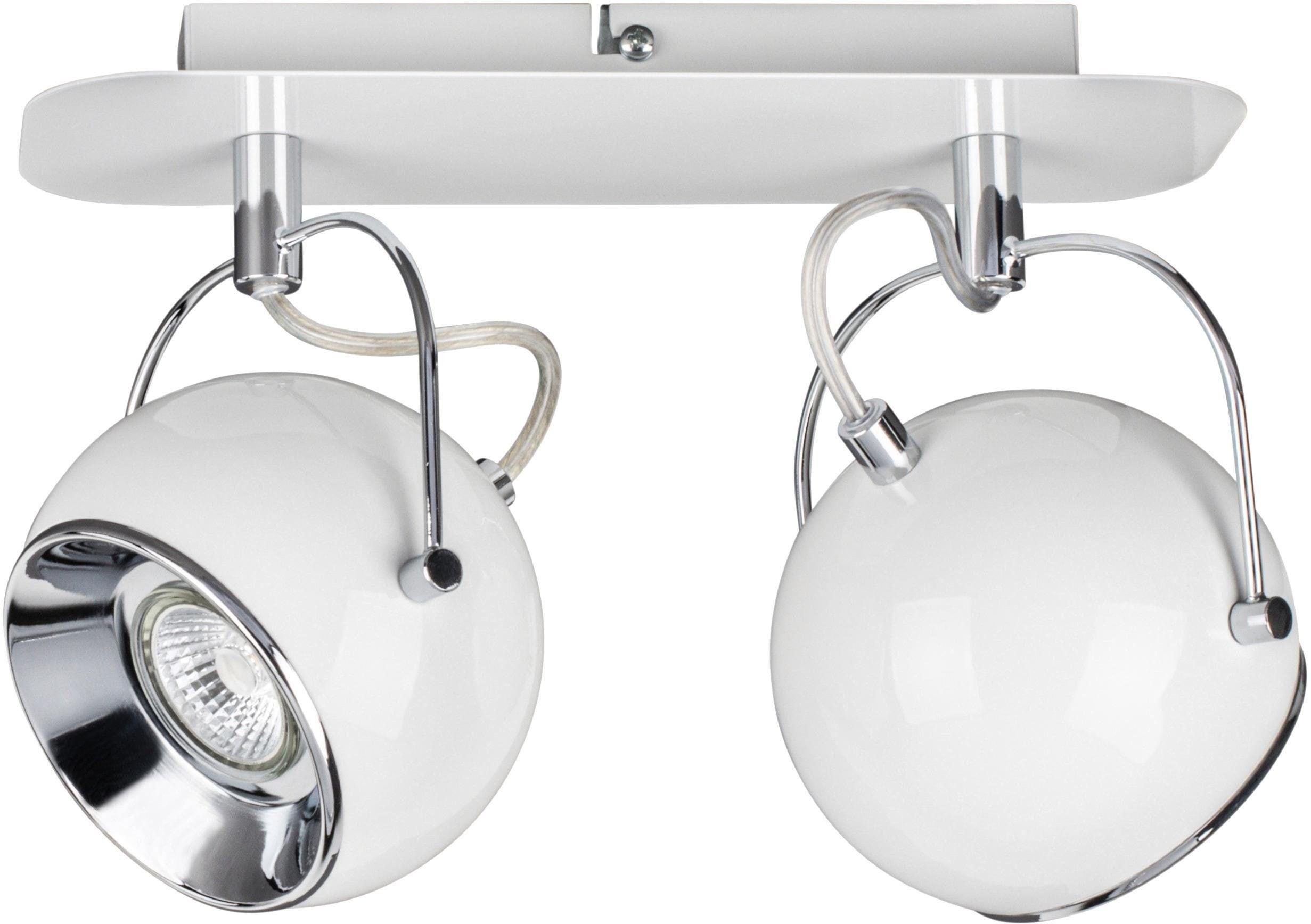 SPOT Light Deckenleuchte BALL, GU10, Warmweiß, Inklusive LED-Leuchtmittel, Schwenkbare und flexible Spots, Made in EU