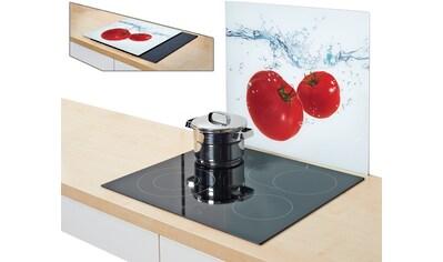 Zeller Present Herdblende-/Abdeckplatte »Tomato Splash«, (1 tlg.), Silikonfüßen kaufen