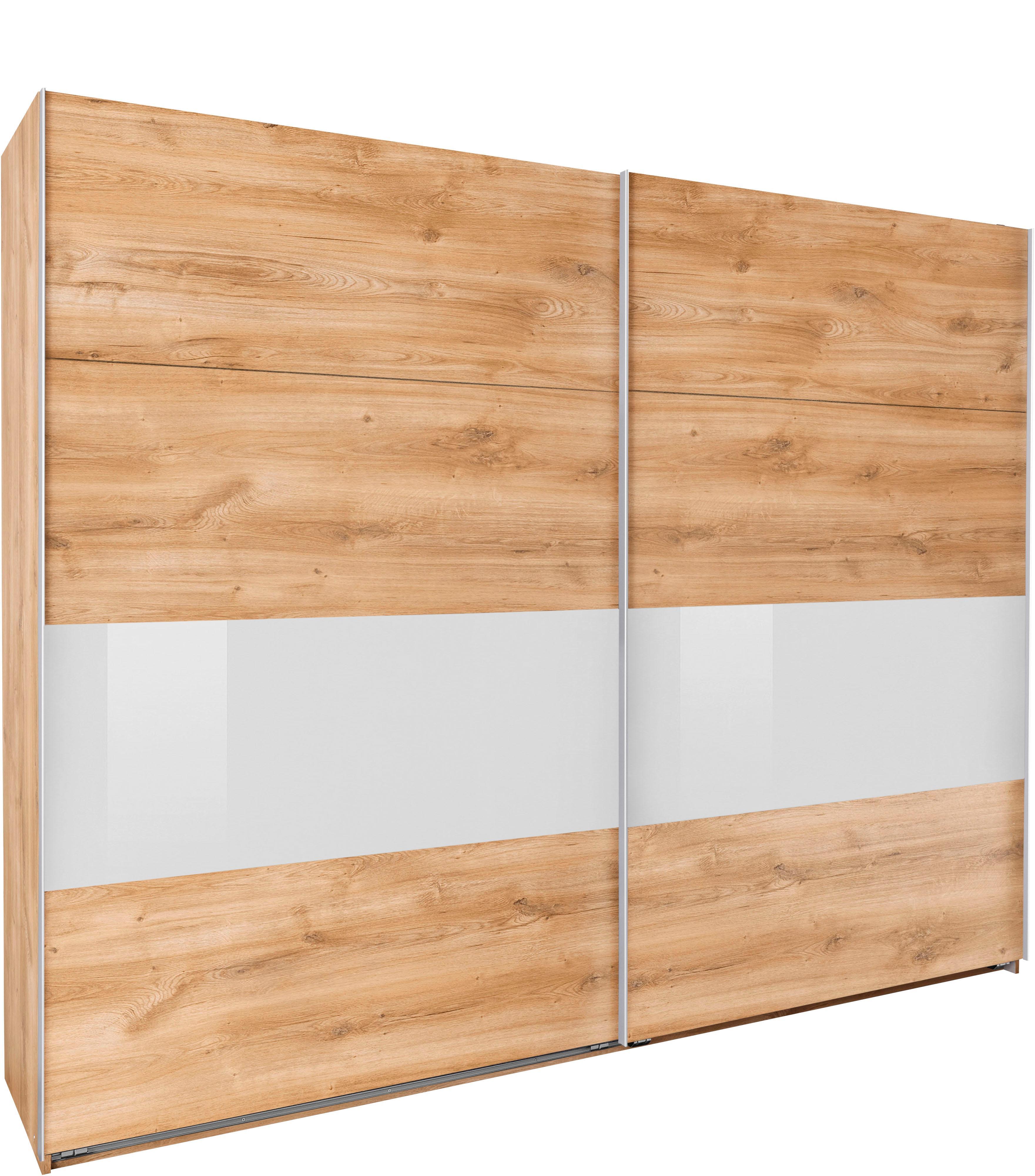 7484c1a8b04c68 Wimex Schwebetürenschrank »Bramfeld« mit Glaselementen und zusätzlichen  Einlegeböden