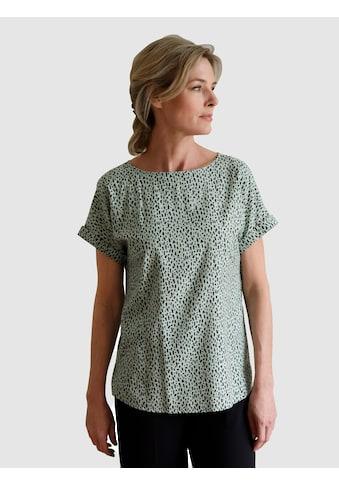 Dress In Shirtbluse, mit Alloverdruck kaufen