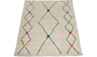 Paco Home Teppich »Wooly 282«, rechteckig, 40 mm Höhe, Hochflor-Shaggy, Scandi-Muster,... kaufen